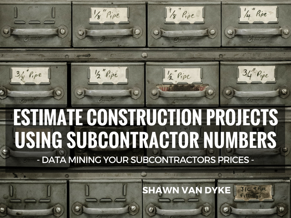 How to estimate a construction project with subcontractors for Order of subcontractors when building a house