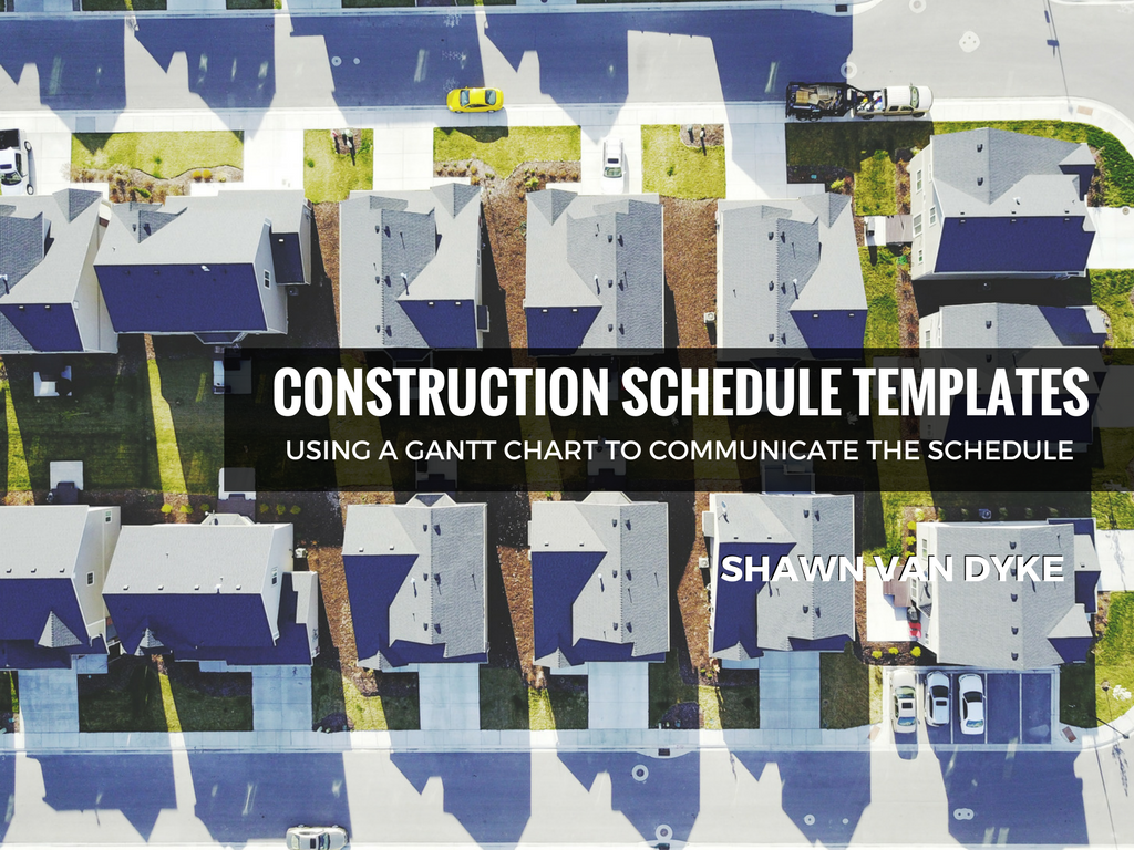 Residential Construction Project Schedule Template Shawnvandyke