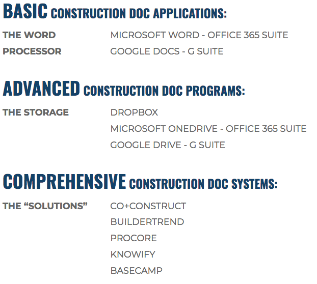 Construction-Document-Applications