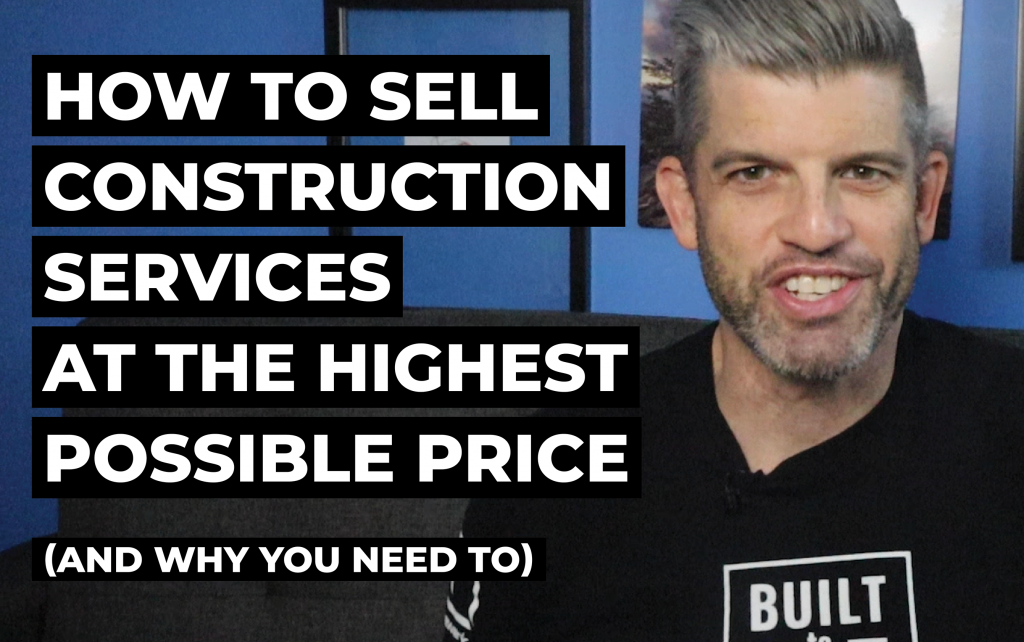 how to sell construction services